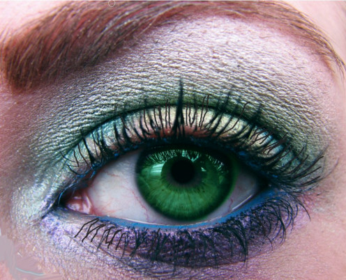 Aqua blue to Neon blue is back for eyeshadow, eyeliner and mascara so take your pick.