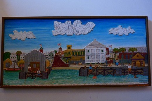 Art by Mario Sanchez at the Custom House in Key West