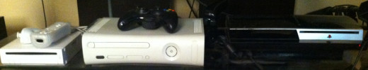 The Nintendo Wii, Microsoft Xbox 360, and the Sony Playstation 3.