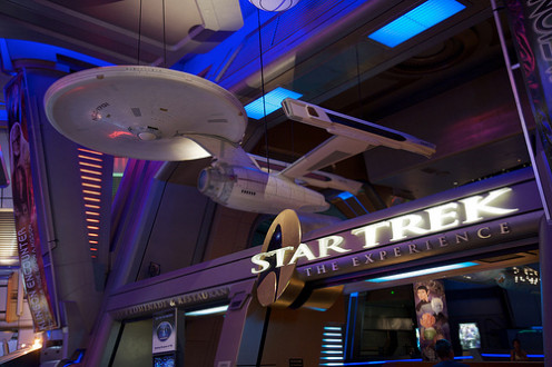 "The Las Vegas Hilton's ""Star Trek: The Experience"", now closed and very much missed."