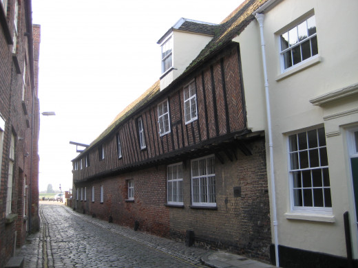 Surviving Hanse Warehouses in Kings Lynn, England.