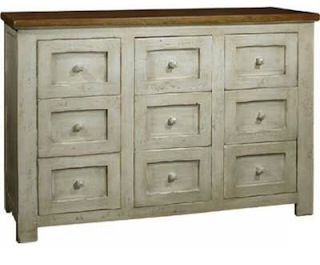 This is a Provence styled chest, made of solid wood and finished in a shabby chic way! Painted shabby chic furniture is pretty neat!
