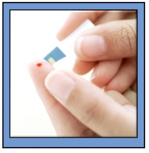 Testing blood glucose levels.