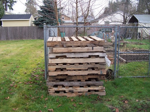 A stack of pallets ready for construction