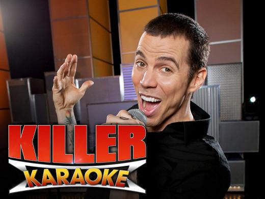 'Killer Karaoke' logo featuring Steve-O.