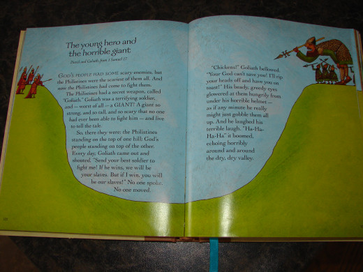 "Picture of story from ""The Jesus Storybook Bible"" written by Sally Lloyd-Jones and illustrated by Jago."