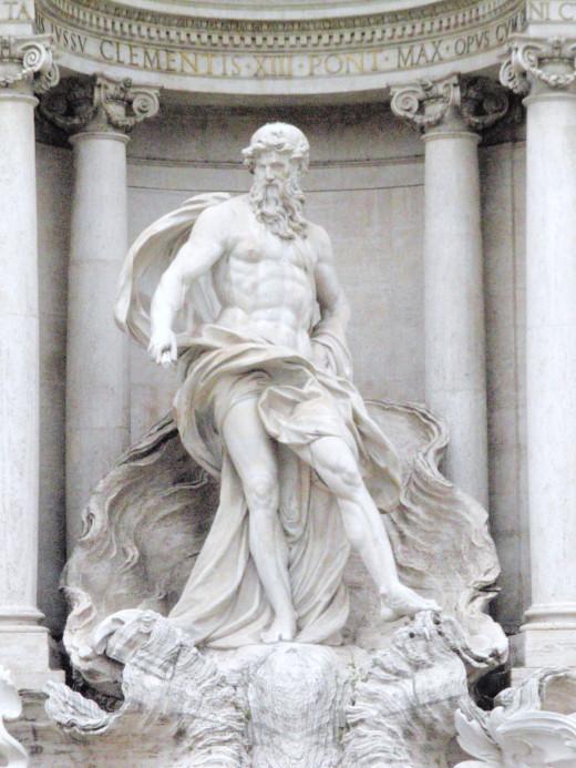 Statue of Oceanus, father of Clytie