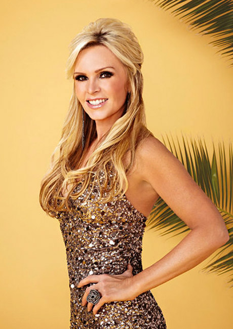 Tamra and Vicki were best of friends in the first couple of seasons but have had a falling out.  Tamra is the divorced mother of four, three of them from her ex, Simon Barney.  She  is now engaged to Eddie Judge, a younger man who adores her.