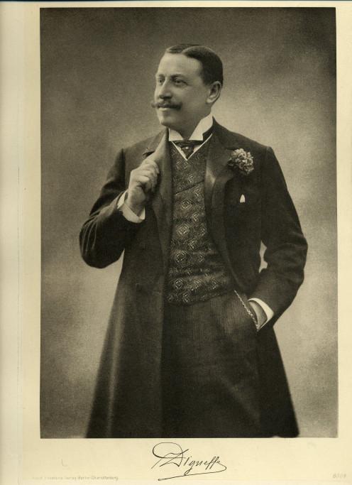 Emile Digneffe in about 1900, in: G. Deltour, Belgium Today, Berlin-Charlottenburg: Adolf Eckstein, c. 1908