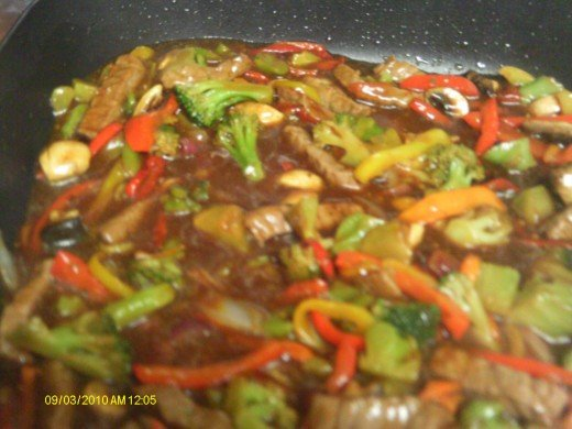 Having your child help make stir fry with familiar veggies may encourage them to eat it.
