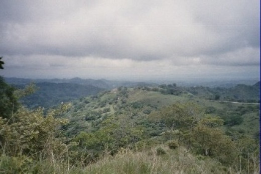 This is a view from a high point in the cloud forest (NW corner of Costa Rica) where you see all the way out to sea.