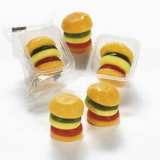 What are these? Hamburgers? Gumburgers? Why are they here?