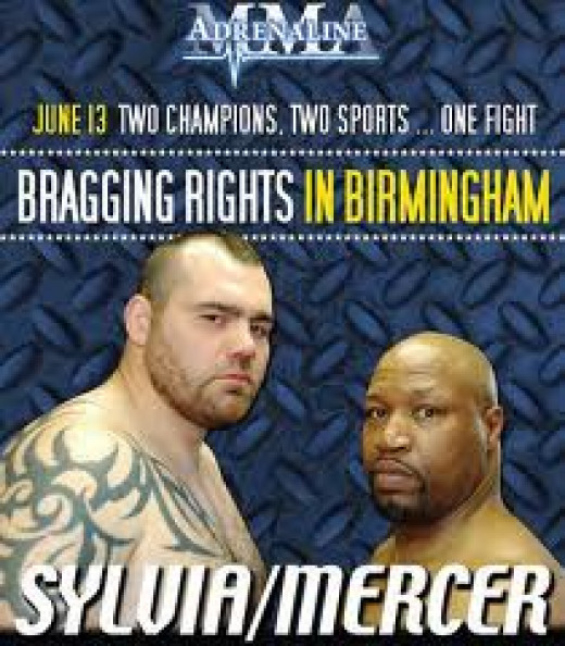Ray Mercer fought Tim Sylvia in Birmingham, Alabama in a mixed martial arts bout. Mercer won the bout with one punch.
