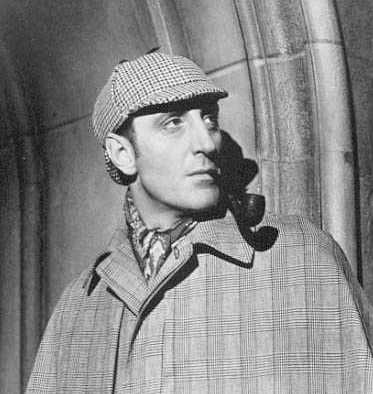 Basil Rathbone as Sherlock Homes