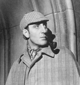Basil Rathbone as Sherlock Homes