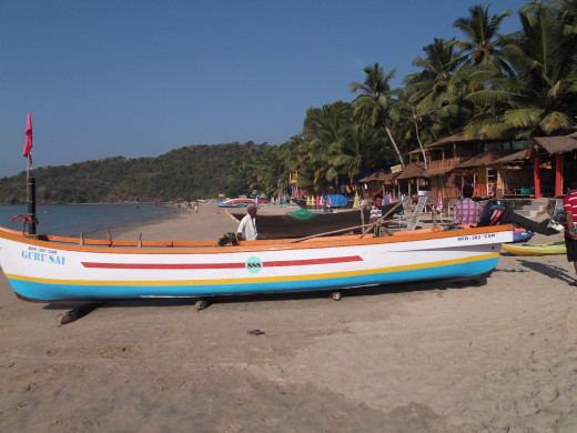 The unexplored & unspoilt Palolem Beach, Goa