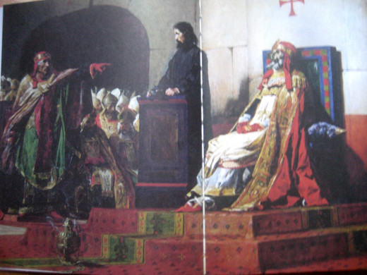 Painting in oil by French artist Jean-Paul Laurens (Photo Source: National Geographic through the book of Joseph Cummins)