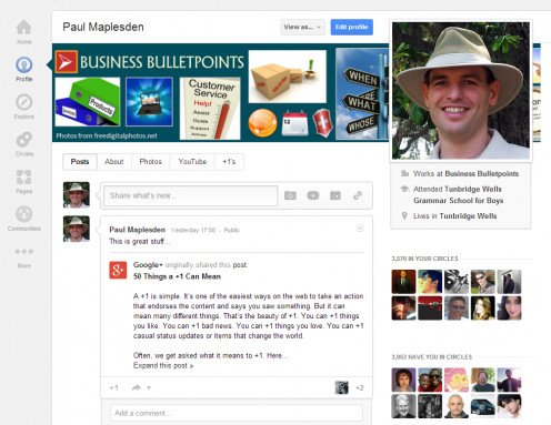 Your Google+ Profile is vital to letting the community know about you