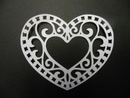 White Intricate Heart