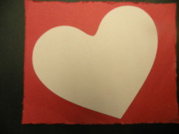 White Heart adhered to background