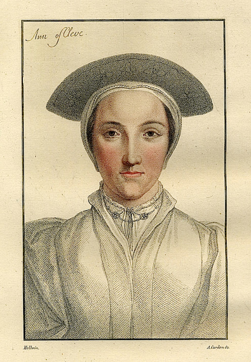 Anne of Cleves after Holbein by Henry Hoppner Meyer, printed in 1828