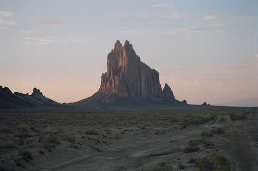 Phil Darnell photographed Shiprock, near Farmington, New Mexico on October 13, 2007.