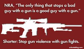 Stop gun violence with gun fights