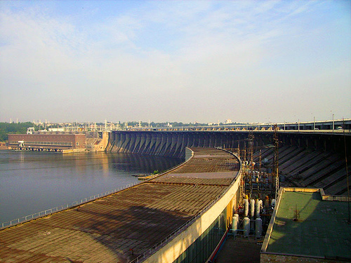 A hydroelectric power plant in Ukraine