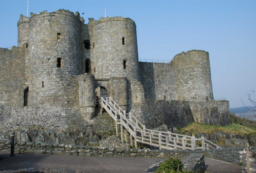 Castle on the Welsh marches, similar to one which is discussed in The Heaven Tree Trilogy