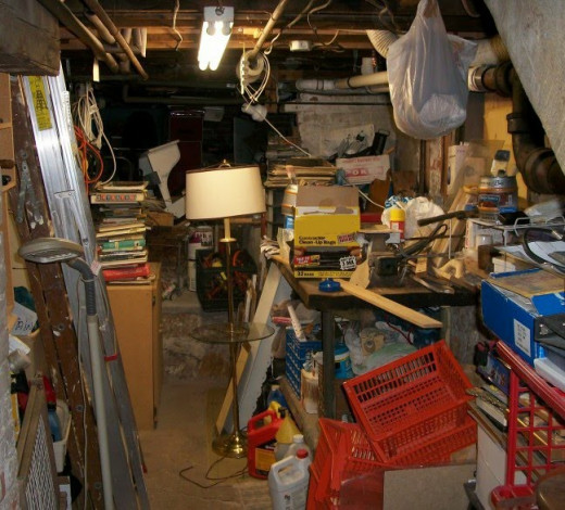 If your home has this much clutter, you might want to get cracking with becoming organized.