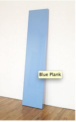 Blue Plank, 1969. Polyester resin on fiberglass and plywood, 96 1/4 x 22 1/4 x 3 3/16 inches (244.5 x 56.5 x 8.1 cm). Solomon R. Guggenheim Museum, New York,Gift, Robert Elkon  70.1934. © John McCracken