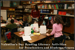 Valentine's Day Reading Literacy Activities, Themes, and Ideas for Preschoolers and Kindergarteners