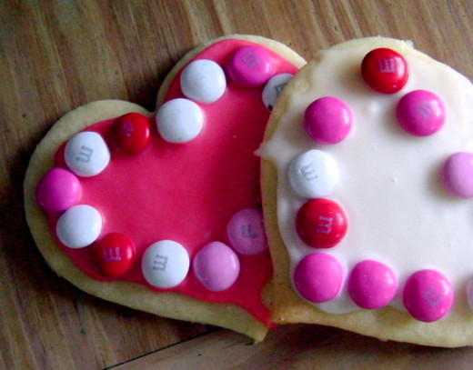 Colorful Valentine Cookies