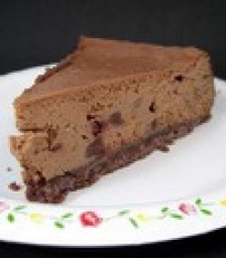 Chocolate Chocolate Chip Cheescake Bars