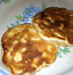 "Apple ""fritter"" pancakes"