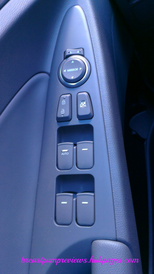 Controls for Side Mirrors, Windows, and Door Locks