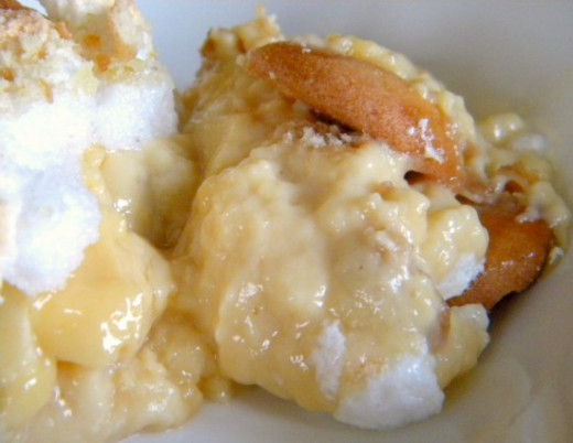 Homemade banana pudding is delicious