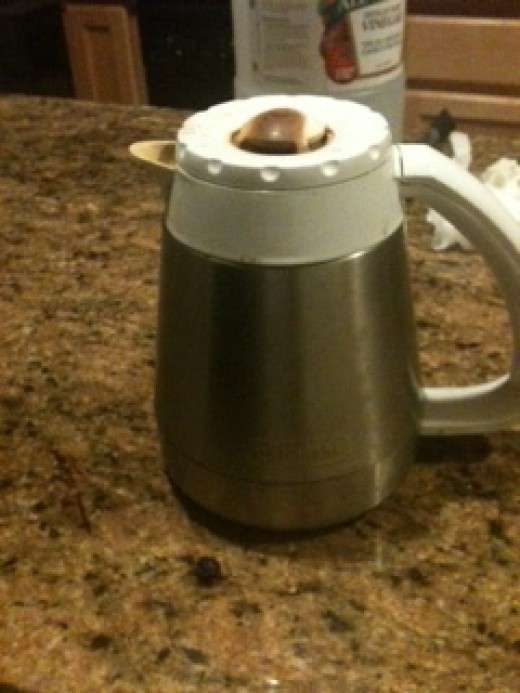A clean coffee pot makes good coffee