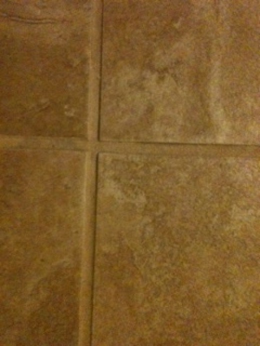Tile after cleaing