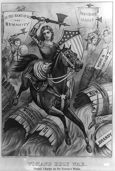 An allegorical 1874 political cartoon print