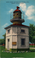 1940 postcard, lighthouse formerly on the Queen's Wharf, Toronto.