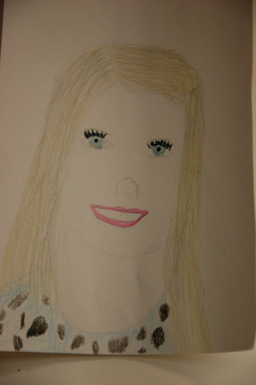 one of my fifth grade student's self-portraits