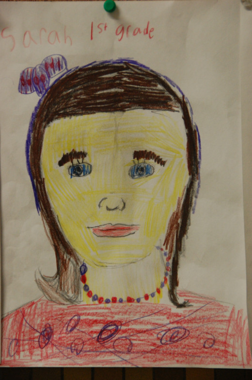 second grade self-portrait