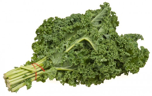 Typical Kale in the Produce Section