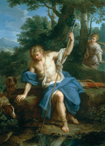 Narcissus and Echo, by Placido Costanzi.