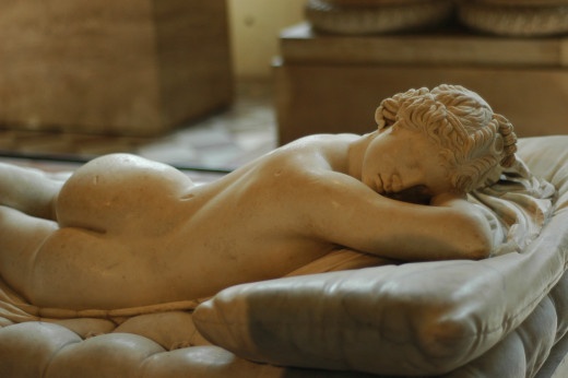 Sleeping Hermaphroditus, The Louvre