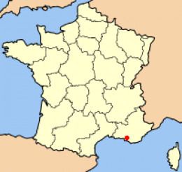 Map location of Marseille, France