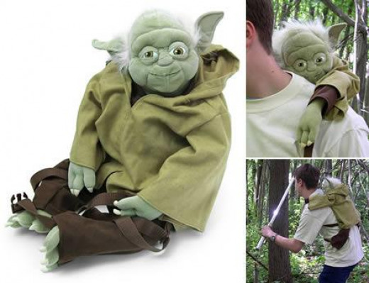 The ThinkGeek Yoda backpack / laptop bag is perfect for the Star Wars fan.