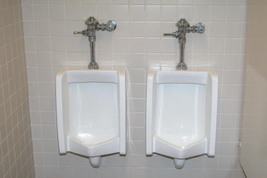 Clear urinals, go for it...