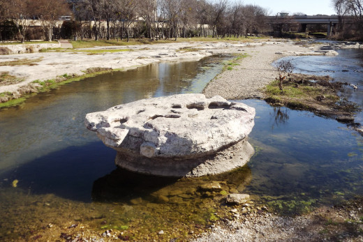 This was the rock that gave Round Rock it's name